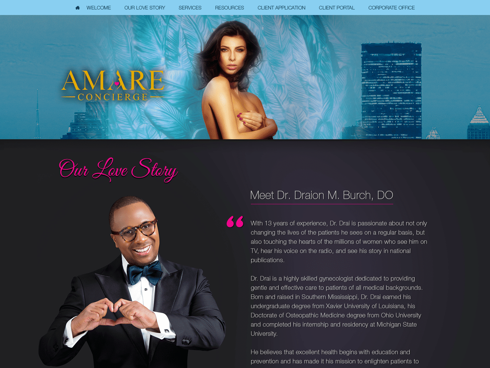 Amare Concierge Obgyn Website 1600x1200