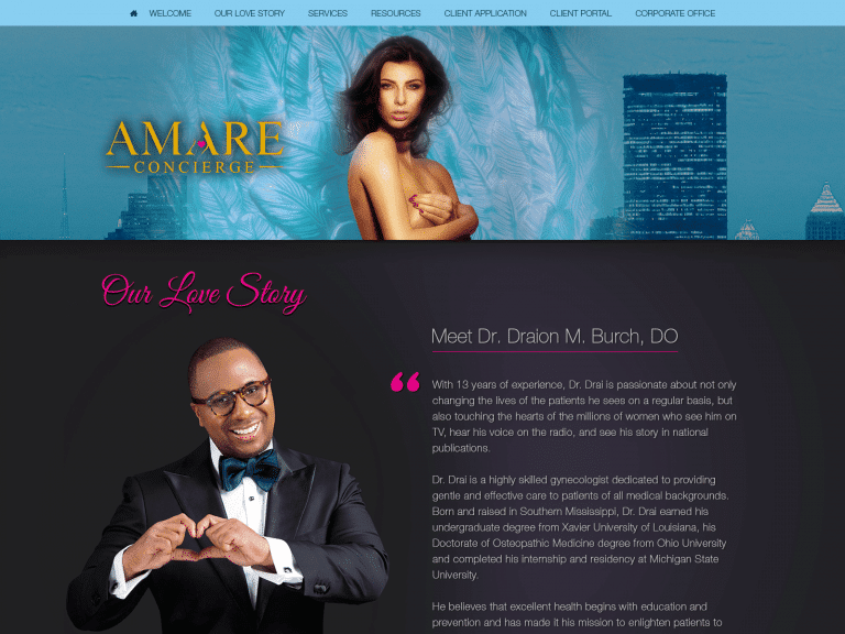 Amare Concierge Obgyn Website 1600x1200