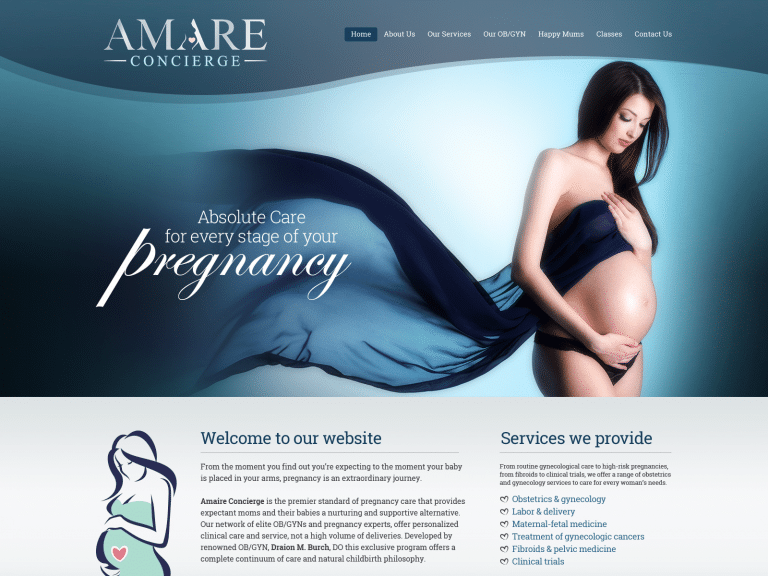Amare Pregnancy Website 1600x1200