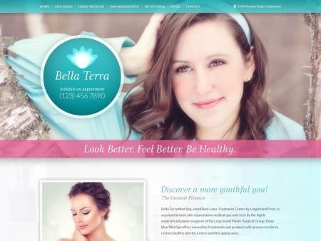 Bella Tra Skin Care Website 1600x1200