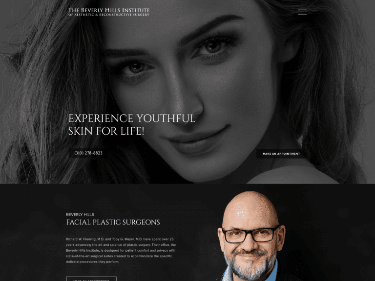 Beverly Hill Plastic Surgery Website 1600x1200