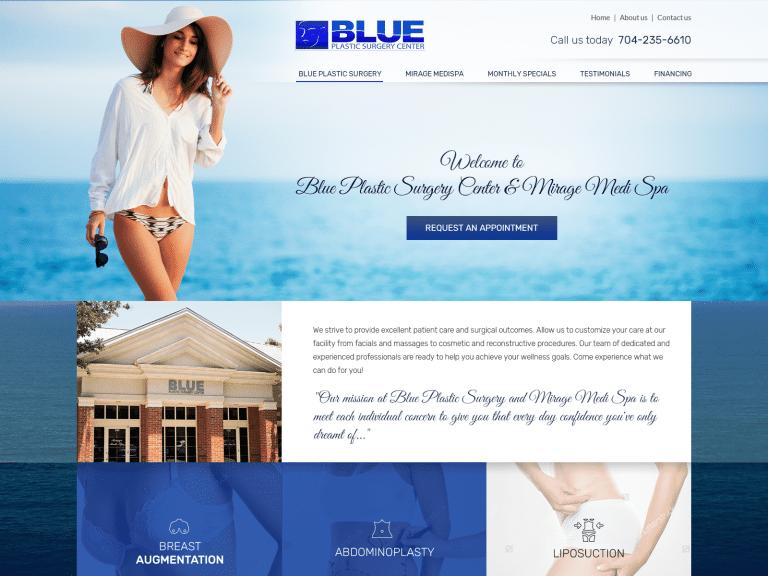 Blue Plastic Surgery Website 1600x1200