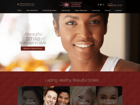 Center For Cosmetic Dentistry Website 1600x1200