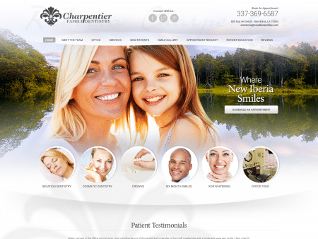 Charpentier Family Dentist Website 1600x1200
