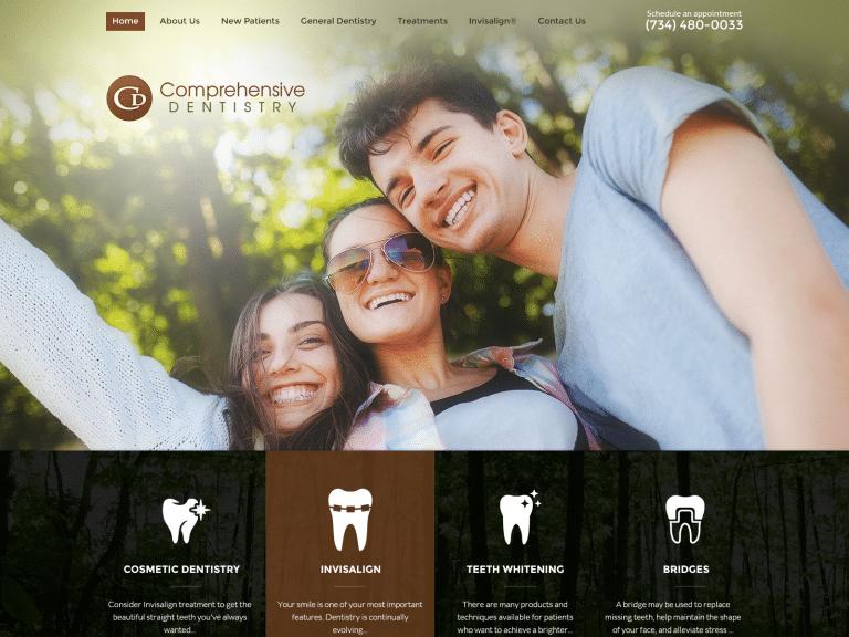 Comprehensive Dentistry Website 1600x1200
