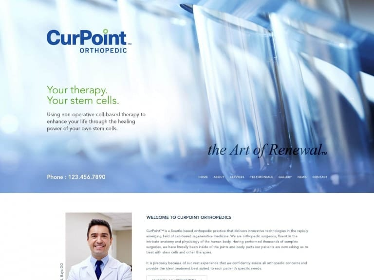 Curpoint Orthopedic Website 1600x1200