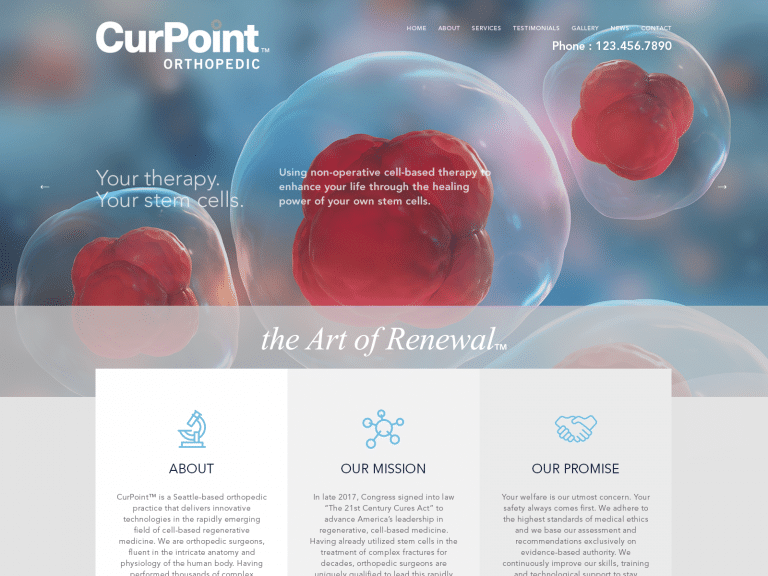 Curpoint Orthoperic Surgery Website 1600x1200