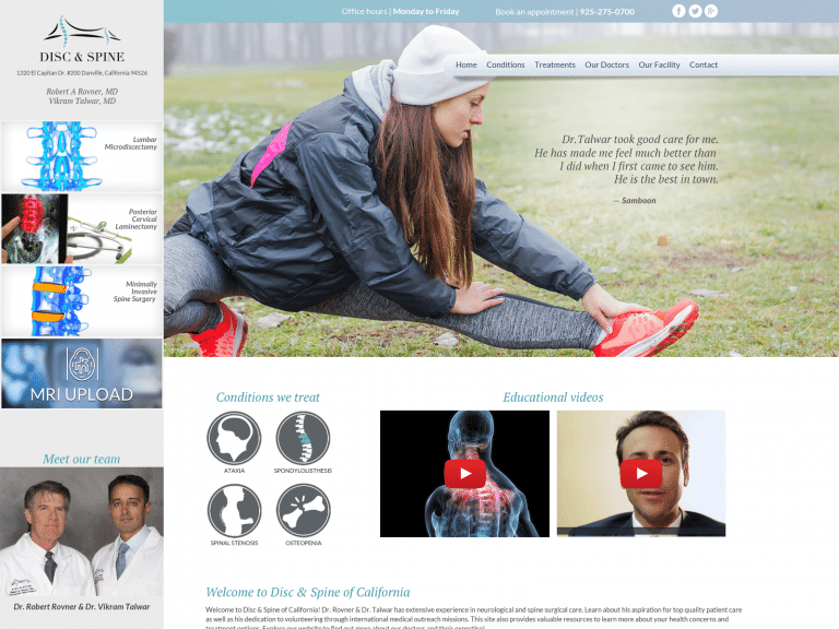 Disc And Spine Center Website 1600x1200 Featured