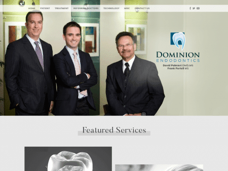 Dominion Endodontics Website 1600x1200