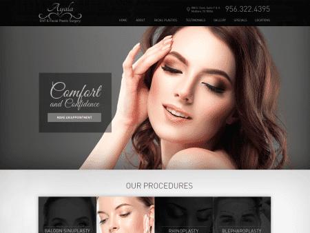 Dr Ayala Facial Cosmetic Surgery Website 1600x1200