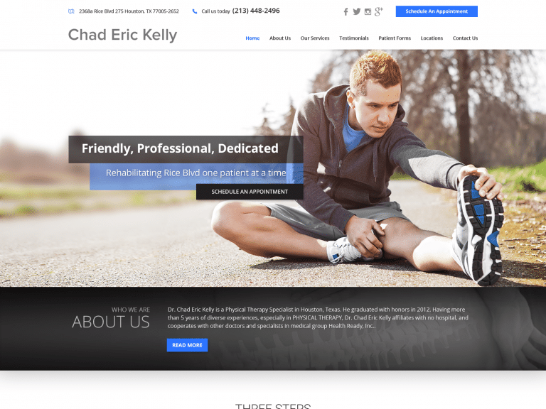 Dr Chad Eric Physical Therapy Website 1600x1200