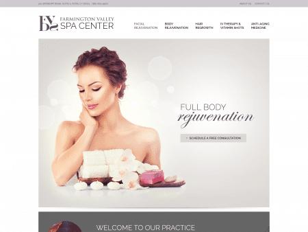 Farmington Valley Dermatology Spa Website 1600x1200