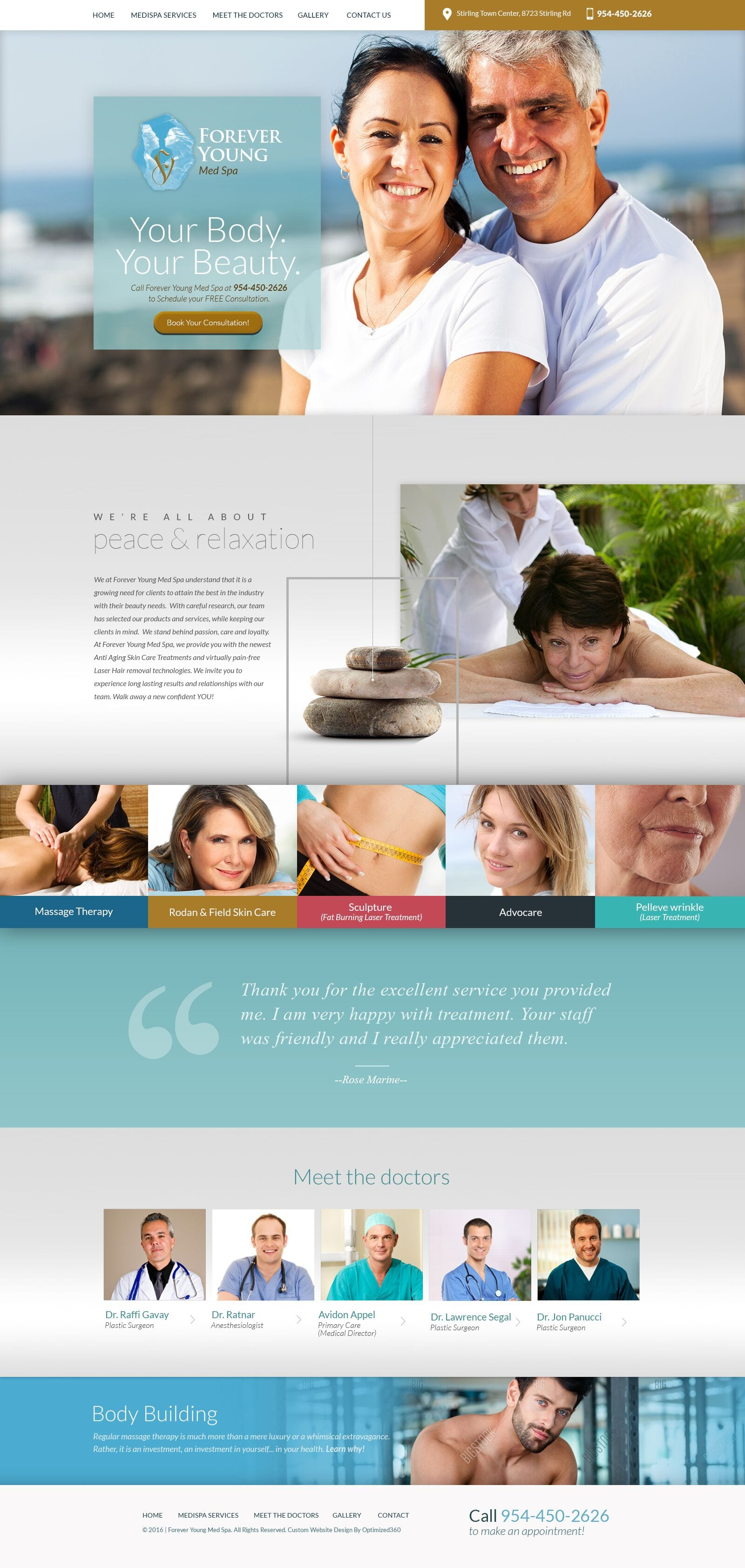 Forever Young Medical Spa Website