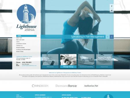 Lighthouse Chiropractic Website 1600x1200