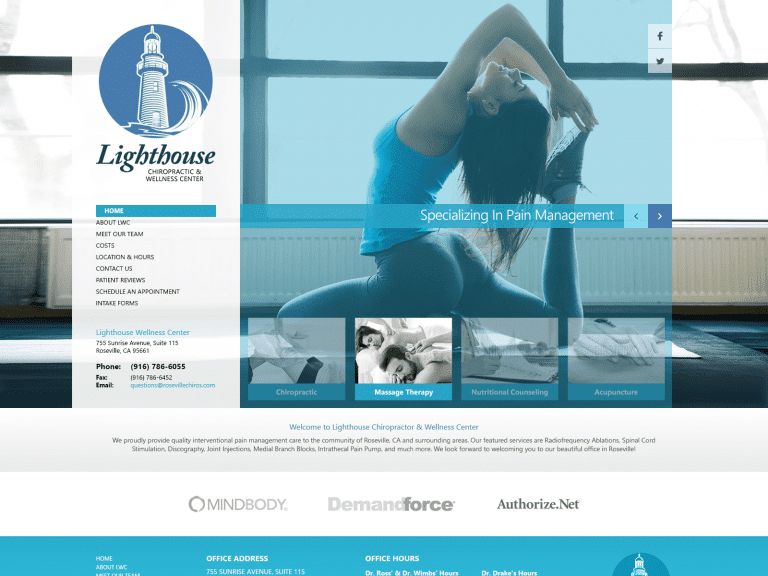 Lighthouse Chiropractic Website 1600x1200