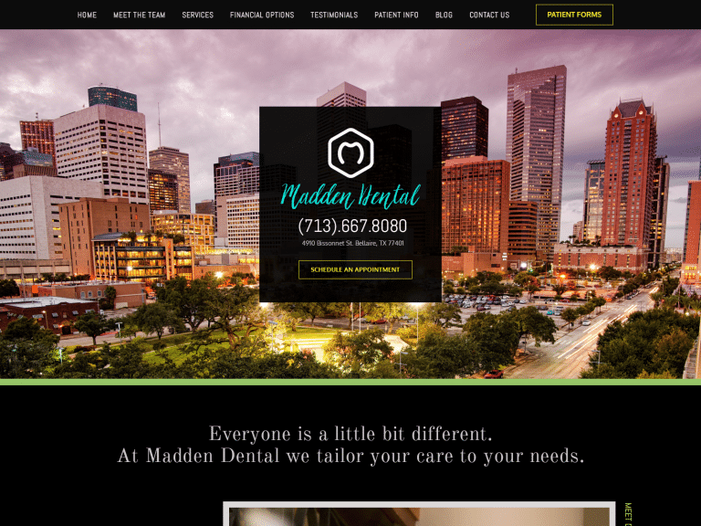 Madden Dental Website 1600x1200