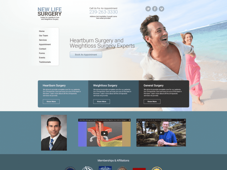 New Life Surgery Website 1600x1200