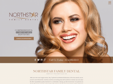 Northstar Family Dentistry Website 1600x1200