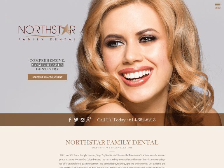 Northstar Family Dentistry Website 1600x1200