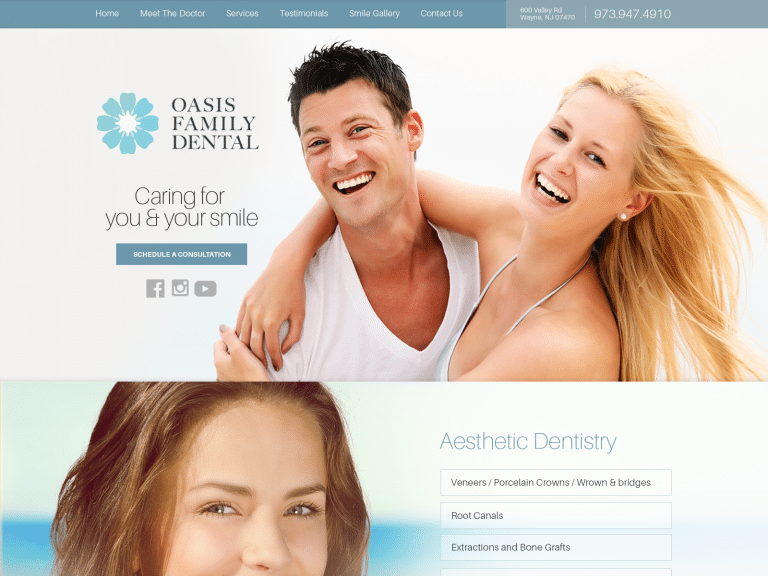 Oasis Dental Website 1600x1200