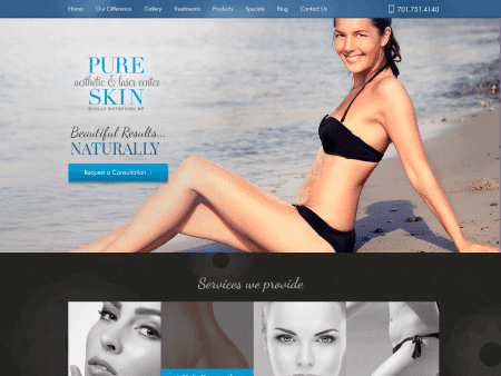 Pure Skin Website 1600x1200