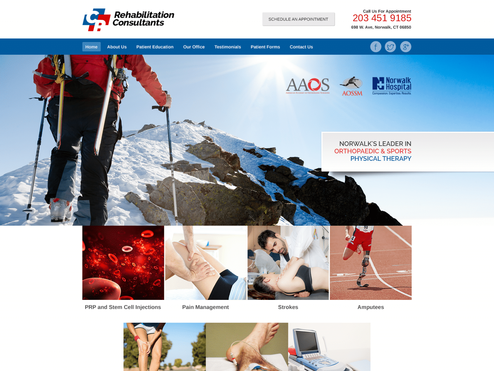Rehab And Pain Management Center Website 1600x1200