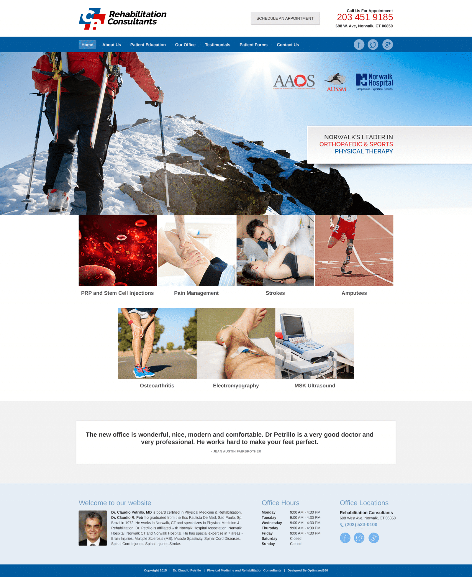 Rehab And Pain Management Center Website