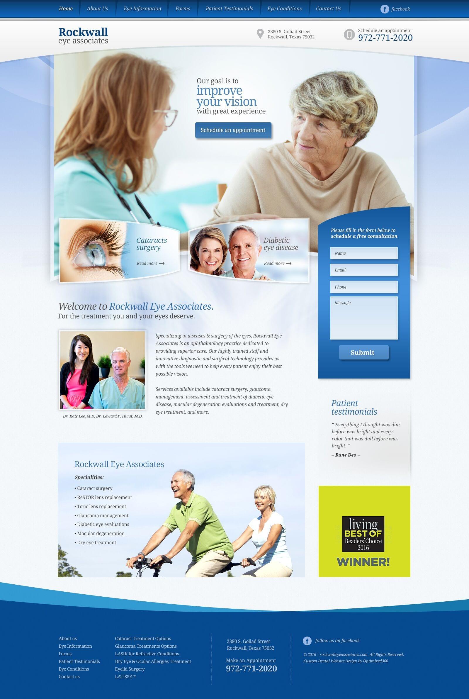 Rockwell Eye Associated Website