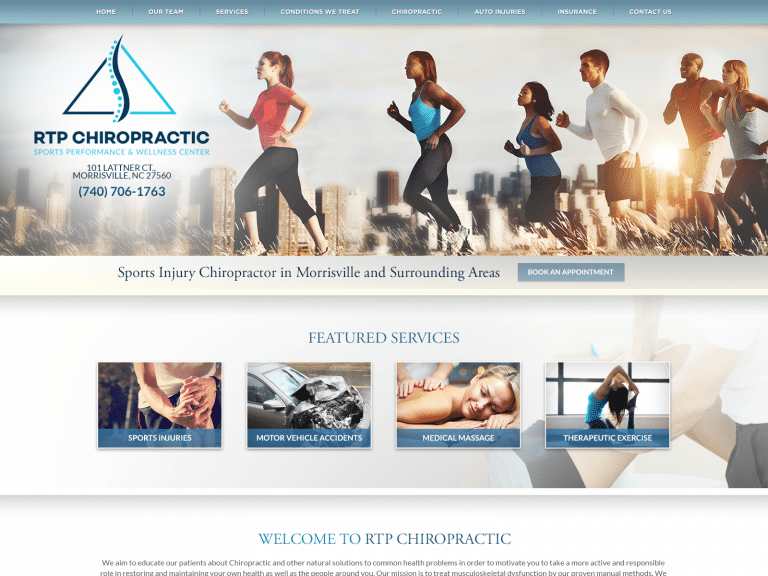Rtp Chiropractic Website Full Page 1600x1200