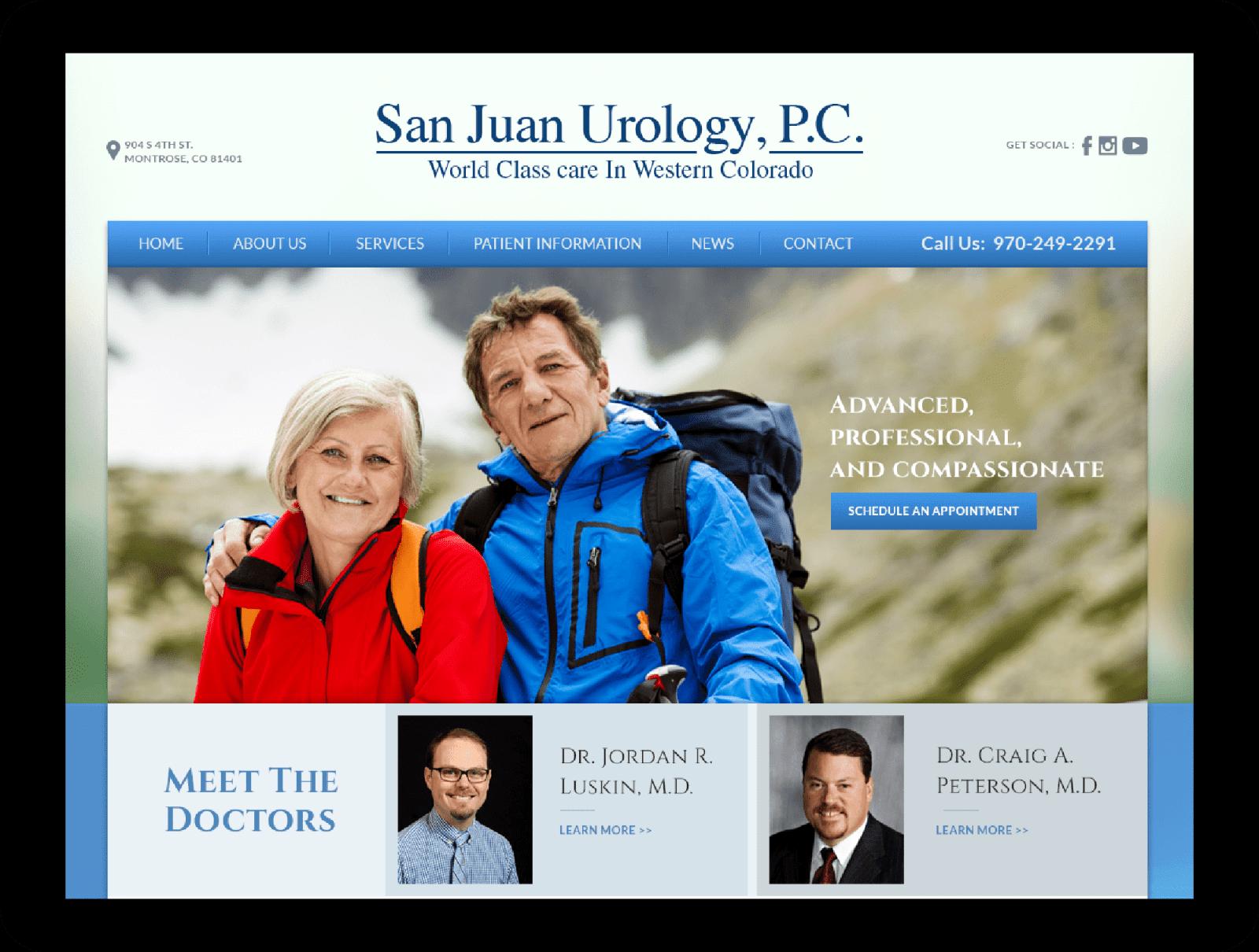 Urology Website Screenshot Monitor