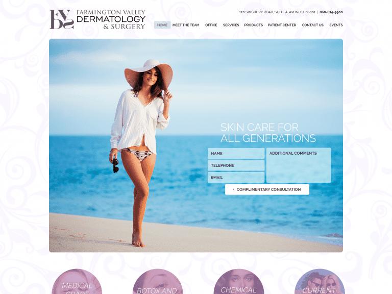 Valley Dermatology Center Website 1600x1200