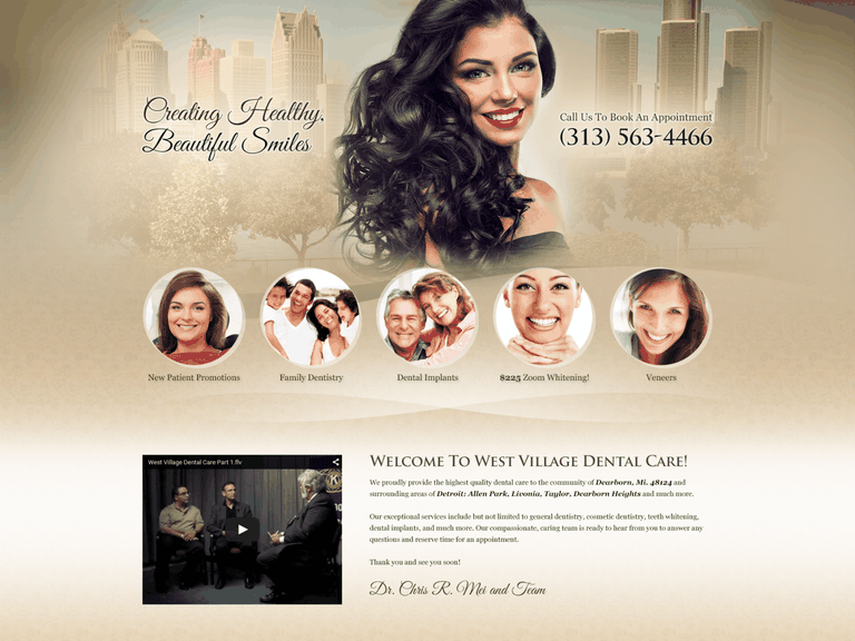 Village Dental Center Website 1600x1200